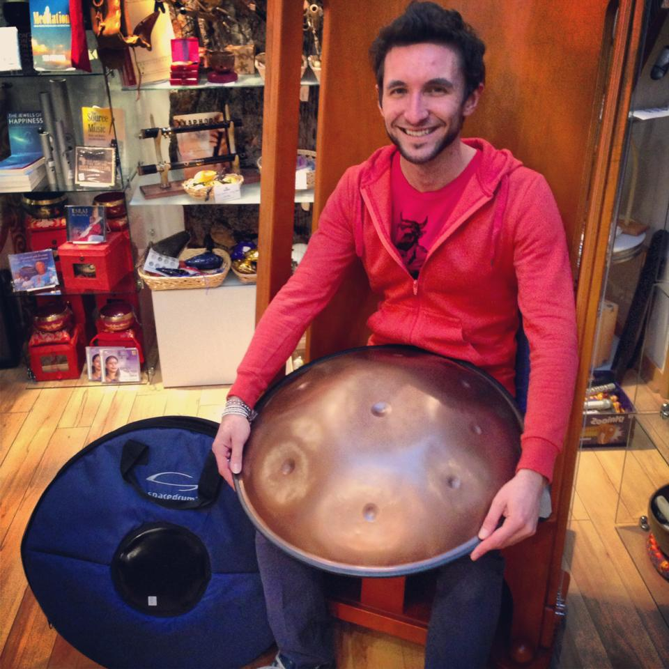 Adam and his new spacedrum!